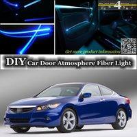 accord band - DIY interior Ambient Light Tuning Atmosphere Fiber Optic Band Lights For Honda For Accord Door Panel illumination Refit