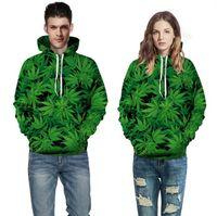 best active wear - Best selling styles model of d sets Plant leafs Hoodies lobe hooded fleece Set head wear casual dress lovers Sweatshirts