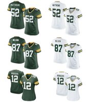aaron rodgers jersey xl - Packers womens Jordy Nelson Haha Clinton Dix Eddie Lacy Clay Matthews Aaron Rodgers Green White football Jerseys