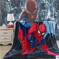 Wholesale Girl boy130 cartoon print fashion luxury design Flannel blankets air condition fleece blanket with original box bed sheets