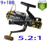 Cheap SUPERIOR METAL SPINNING FISHING REEL 9+1BB Front Drag Powerful Spinning Carp Reel Bait Casting Reel Fishing Reels for sale