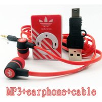 Wholesale new Mirror Clip mini Sport MP3 music Player Support TF Micro with earphone and cable