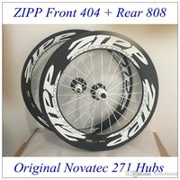 zipp - Best Match Front Zipp Rear Zipp Carbon Wheels Clincher Tubular White Decal k Wave Novatec Hubs Glossy Matt Finish
