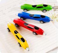 automobile modeling - New automobile modeling ballpoint pen Stationery Cute Plastic Car Shape Pens Creative Ball Point Pen School Stationery pen for children