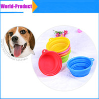 Wholesale Pet Dog Cat Fashion Silicone Collapsible Feeding Feed Water Feeders Foldable Travel Food Bowls Dish colors Frisbee