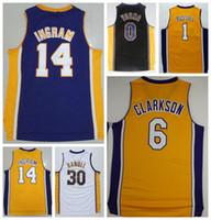 angelo shirts - Hot Sale Brandon Ingram Uniforms Nick Young D Angelo Russell Jerseys Sport Shirt Julius Randle Black Purple White Yellow