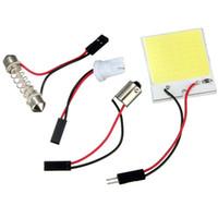 Wholesale Overvalue T10 LED Chip COB White Car Auto Interior Panel Light Bulb Lamp W5W BA9S Festoon Dome Adapters DC12V