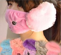 Wholesale 2016 autumn and winter child warm masks two in one ear protection Winter riding child with ear masks dust masks JF