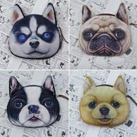 bg fashion - 3D Dog Face Coin Bag Mini Wallet Pocket Women Purse Zip Pouch Handbag Clutch Fashion Accessories BG