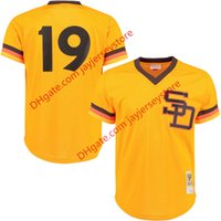 baseball practice jersey - Men s San Diego Padres Tony Gwynn Mitchell Ness Gold Authentic Cooperstown Collection Mesh Batting Practice Jersey