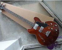 Wholesale New Guitar Factory strings Bass Guitar Custom Jazz Electric Bass guitar Bass Brown china OEM Guitar