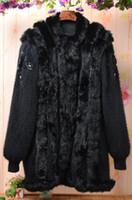 angora knit - 2016 women casual black long thicken warmest angora cashmere loose sweater coat new warm winter fashion fox fur cardigan jacket coat