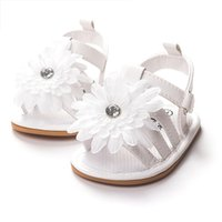 baby girl ivory shoes - Flowers Appliqued Newborn Baby Shoes Branded Toddler Baby Girl Shoes Ivory Flower Baby Moccasins Infant Soft Sole Sandals Shoe