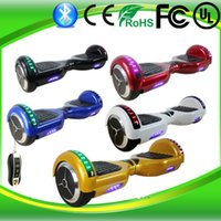 Wholesale 6 Inch Hoverboards LED Scooter Bluetooth Two Wheels Balaning Scooters LED Bluetooth Self Balance Scooters With Remote