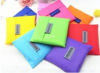 Wholesale Candy color Japan Baggu Reusable Eco Friendly Shopping Tote Portable folding Bag pouch purse handbag Environment Safe Go Green