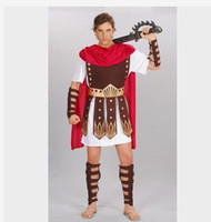 Wholesale Guard Hercules Roman Gladiator Clothing Set Roman Warrior Costume Halloween Constumes Party Cosplay Men Events Props E47
