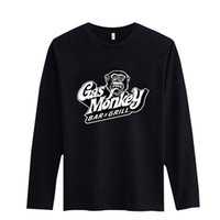 red monkey - 2016 Men s T Shirts GAS MONKEY GARAGE Cotton Long Sleeve Casual Hip Pop Mens Sportwear Jogger Tracksuit