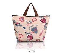 Wholesale Different Flower Oxford Picnic Thermal Bag Neoprene Lunch Bag Food Cooler Bags Thermal Women Handbag Women Messenger Bags