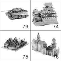 Wholesale 3D metal puzzle toys eiffel tower building car bridge ship Leaning Tower of Pisa windmill Ferris wheel helicoptor hotel blocks bricks