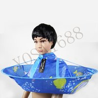 Wholesale Kids Hair Cutting Cape Haircut Gown Hairdresser Apron Blue Cloak Clothes For Haircut