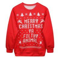 Wholesale Christmas Couple Hoodies - 2016 HOT Selling Digital Printing 3D Christmas Theme Couples High Quality Tops Hoodies Sweatshirts Freeshipping