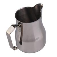 al por mayor taza jarra-500CC / 350CC taza de café taza de café SUS304 cafetería leche de espresso Latte arte Frothing taza Taza de café Tamper taza de alta calidad