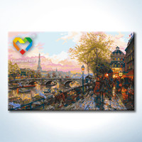 baby impressions - Paris Impression DIY Painting Baby Toys x80cm Infant Canvas Oil Painting Kids Drawing Toys Set for Bar