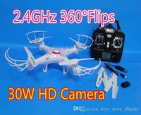 Wholesale 2 GHz axis RC drones X5C with w HD Camera RC Quadcopter with Flips long distance remote control RC Toys