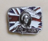belt buckles for men uk - Sex Pistols God Save The Queen UK Flag Music Belt Buckle SW BY198 suitable for cm wideth belt with continous stock
