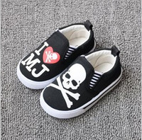b skull - Little Baby Halloween Shoes skull scary toddle shoes canvas solid sole anti slip kids shoes children footwear