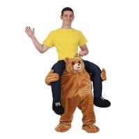 adult teddy bear costumes - ADULT CARRY ME PIGGY BACK RIDE ON NOVELTY TEDDY BEAR MASCOT FANCY DRESS OUTFIT