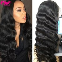 Wholesale hot sell b Natural Color Brazilian Virgin Hair Full Lace Wig Body Wave Lace Front Wig Glueless Wig density with baby hair