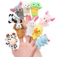 Wholesale Funny Finger Puppets Baby Plush Toy Talking Props animal group Send Kids Lovely Soft kid Toy Doll Baby Gift