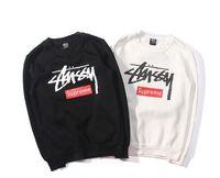 basic hoodie - Europe America Famous Brand STUSSY BASIC LOGO ZIP HOODIES Autumn Winter Casual All match Hoodies Unisex Hip Hop Streetwear