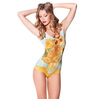 Wholesale New Bathing Suit Cartoon Digital Print Swimsuit Brand One Piece Swimwear Women Piece Swimsuit Beachwear