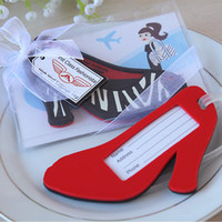 Wholesale First Class Fashionista quot High Heel Shoe Luggage Tag wedding favors birthday gifts baby shower giveaway centerpieces supplies