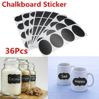 Wholesale 36PCS Chalkborad Sticker Sort OUT Chalk Pen Modern kitchen Organizing Blackboard Labels Chalk Board Vinyl Kitchen Jar Stickers Craft x3