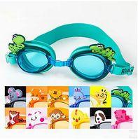 Wholesale Children Swim Goggles Waterproof Anti fog Glasses Cartoon Animal Beach Goggles Baby Girls Seaside Swimwear Hot Summer Supplies