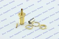 Wholesale Straight RF Connector SMA Female Crimping for RG316 RG174 RG179 RG188 Cable Goldplated Adapter