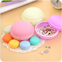 jewellery gift boxes - Hot Sale Jewelry Packaging Carrying Pouch Cute Candy Color Macaron Cosmetic Jewellery Storage Box Pill Case Birthday Gift Table Decoration