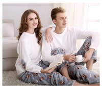 Wholesale 2016 burst of winter flannel couple pajamas autumn long sleeved home service coral velvet pajamas suit