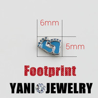 baby feet necklace - DIY Cute Blue Baby Feet Floating Locket Charms Alloy Charms Pendants for Living Memory Glass Locket Necklaces