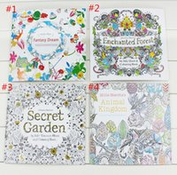 baby stress - 24 Pages Secret Garden Fantasy Dream Enchanted Forest Animal Kingdom Coloring Book Adult Relieve Stress Painting Book baby Drawing Book