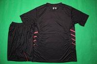 Wholesale Benwon Liverpoolls away black football jerseys short sleeve soccer sets men s athletic thai quality soccer unifroms sports jerseys
