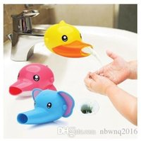 Wholesale 50 New High Quality Happy Fun Cartoon Animals Faucet Extender Baby Kids Toddler Hand Washing Bathroom Sink Gift TRQ0169