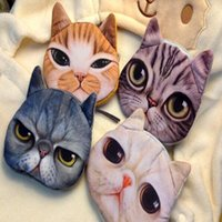 big business card - New coin purses wallet ladies D printing cats dogs animal big face change fashion cute small zipper bag for women Style choose