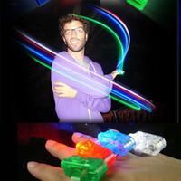 Wholesale Finger Beams LED Finger Light Up Ring Laser LED Rave Dance Party Favors Glow Beams LED Finger Light