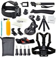 action rods - Gopro sport camera Accessories For Eken H9 Sj8000 k sports action Cameras floating rod chest belt monopod