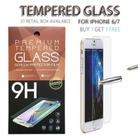 Wholesale 0 MM D iphone iphone Temper Glass Screen Protector For iPhone s plus iPhone plus Samsung S7 Edge Retail Package Available