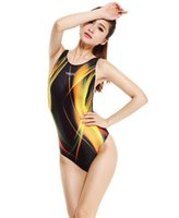 athletic swimsuits - Women s One Piece Professional Athletic Sport Push Up Swimsuit Racing Triangle Body Suits Competition Swimwear Plue Size S XXL